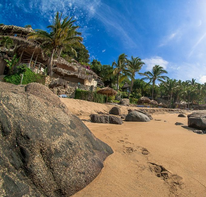 Beach Playa Escondida Sayulita Nayarit Mexico
